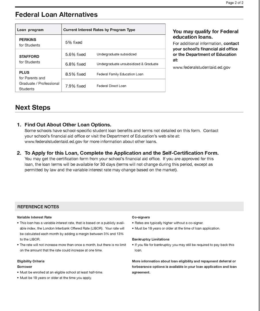 Student Lending Analytics Blog Regulation Z Fine Print Sample